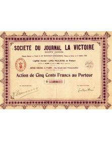Sté du Journal La Victoire