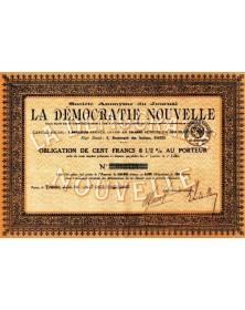 Sté du Journal La Démocratie Nouvelle