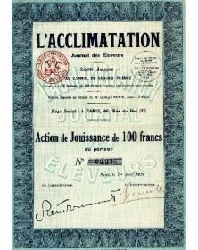 L'Acclimatation - Journal des Eleveurs