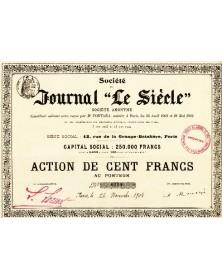 Sté Journal ''Le Siècle''