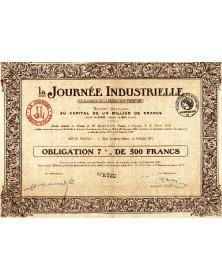 La Journée Industrielle. Le Quotidien de La Production Française