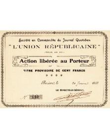 Journal Quotidien ''L'Union Républicaine''