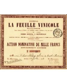 Journal ''La Feuille Vinicole''