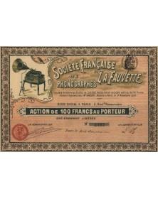 """Sté Française de Phonographes -La Fauvette-"""""""""""