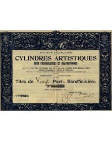 Sté Française des Cylindres Artistiques pour Phonographes et Graphophones