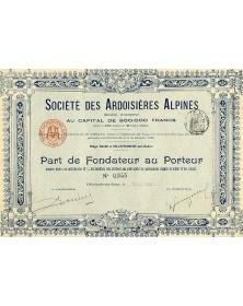 Sté des Ardoisières Alpines