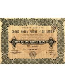 Sté du Grand-Hôtel Pierre-1er-de Serbie
