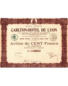 S.A. du Carlton-Hôtel de Lyon