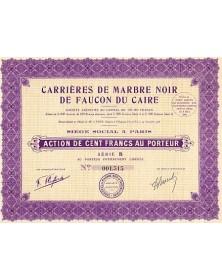 Carrières de Marbre Noir de Faucon du Caire