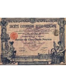 Sté Cotonnière Russo-Française