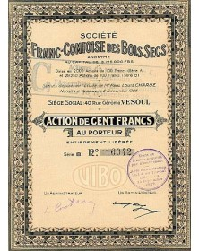 Sté Franc-Comtoise des Bois Secs