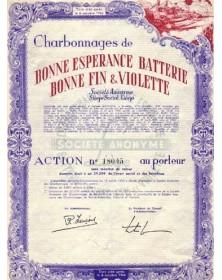 Charbonnages de Bonne Espérance Batterie Bonne Fin & Violette