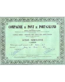 Cie du Pont de Port - Galand