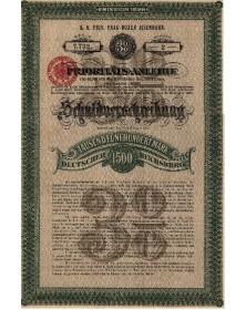 Cie I.R. Privilégiée du Chemin de Fer de Prague Dux - Emprunt de Priorité 3%