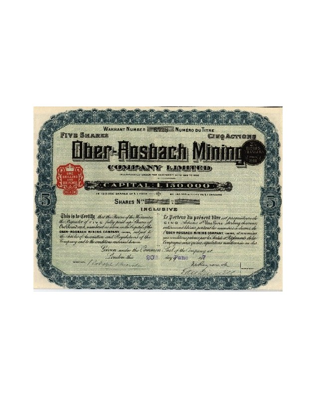 Ober-Rosbach Mining Co. Ltd