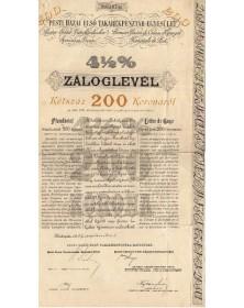 Première Union de Caisse d'Epargne Nationale de Pest - 4,5%