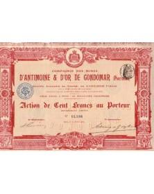 Cie des Mines d'Antimoine & d'Or de Gondomar
