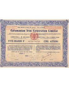 Caramanian Iron Corporation Ltd