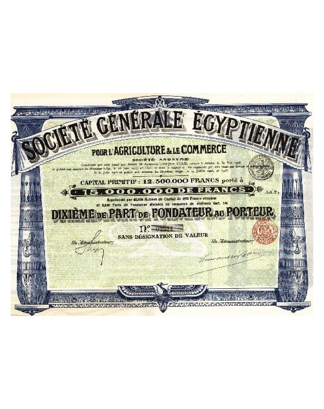 Sté Gle Egyptienne pour l'Agriculture et le Commerce