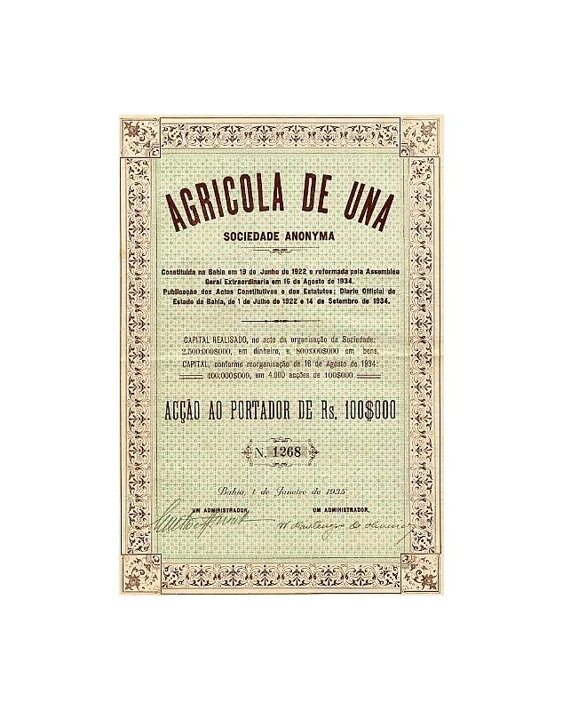 Agricola de Una S.A. Brazil Bahia