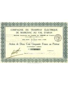 Cie du Tramway electrique de Marignac au Val d'Aran