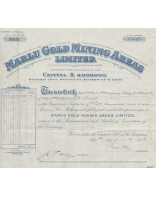 Marlu Gold Mining Areas, Ltd.