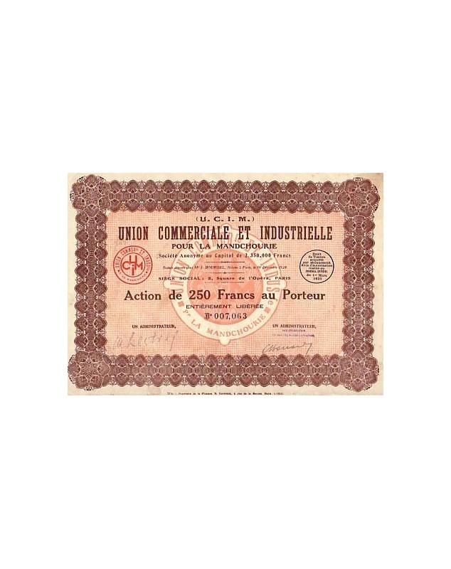 Union Commerciale et Industrielle pour la Mandchourie