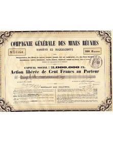 Cie Générale des Mines Réunies  - en Sardaigne et en Piémont (Delorme Ainé et Cie)