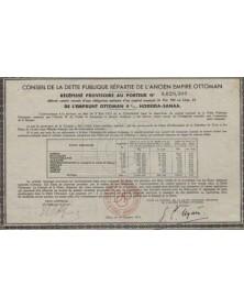 Conseil de la Dette Publique Répartie de l'Ancien Empire Ottoman. 4%, Hodeida-Sanaa