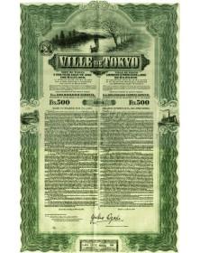 Ville de Tokyo - Emprunt 3% 1912