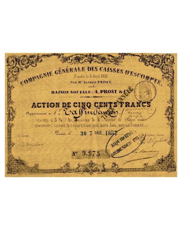 Cie Générale des Caisses d'Escompte A. Prost & Cie