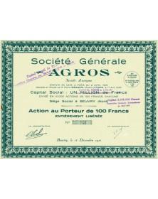 Sté Générale AGROS