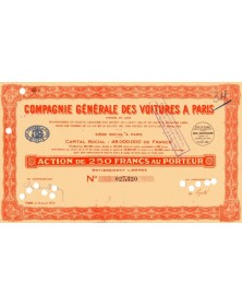 Cie Générale des Voitures à Paris