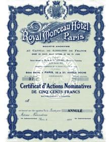 Royal Monceau Hôtel Paris