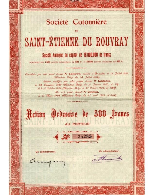 Sté Cotonnière de Saint-Etienne du Rouvray