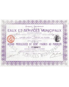 Cie Départementale des Eaux et Services Municipaux