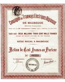 Cie des Tramways Electriques Régionaux de Maubeuge