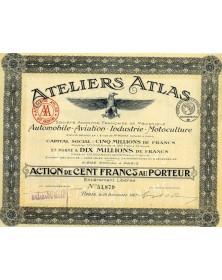 Ateliers Atlas. Mécanique Automobile, Aviation, Industrie, Motoculture