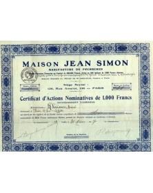 Maison Jean Simon, Manufacture de Fourrures