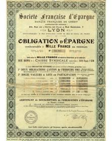 Sté Française d'Epargne. Banque Française de Crédit