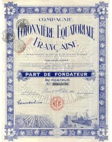 Cie Cotonnière Equatoriale Française
