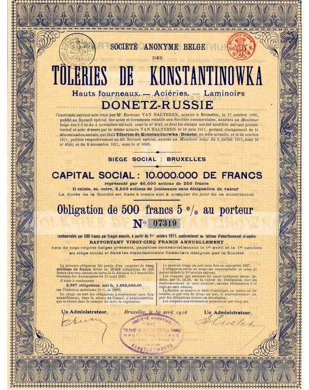 S.A. Belge des Tôleries de Konstantinowka (Donetz)