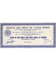 Sté des Mines de l'Oued Maden