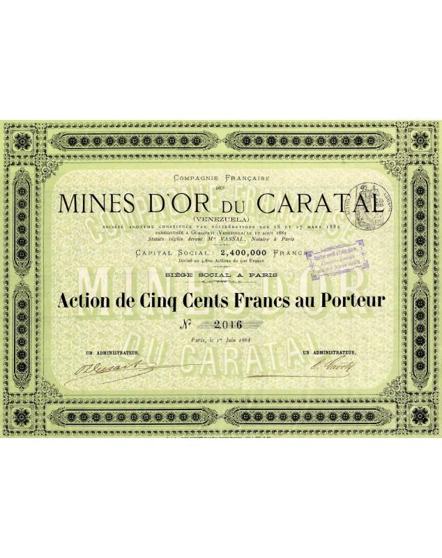 Cie Française des Mines d'Or du Caratal (Vénézuela)