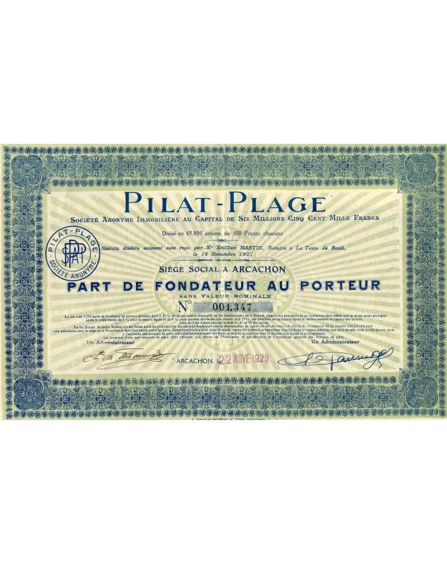 Pilat-Plage, S.A. Immobilière