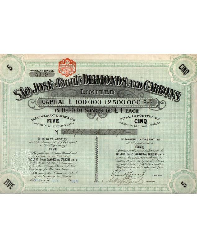 Sao-José Diamonds and Carbons Ltd