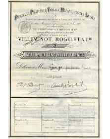 Villeminot, Rogelet & Cie, Peignage, Filature & Tissage Mécaniques des Laines