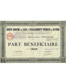 S.A. des Eaux et EtsThermaux de Capvern - Midi-Pyrénées/Hautes-Pyrénées 65