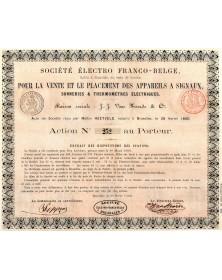 Sté Electro Franco-Belge pour la vente et le Placement des Appareils A Signaux