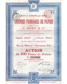 Grandes Fabriques de Papier J. Huet & Cie